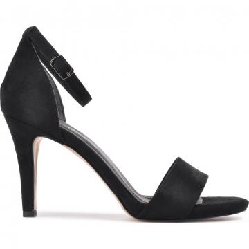Pierre Cardin Siyah Süet Kadın Topuklu Ayakkabı